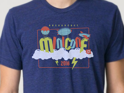 Miniconf 2016 Shirt fun sky balloons t-shirt illustration shirt
