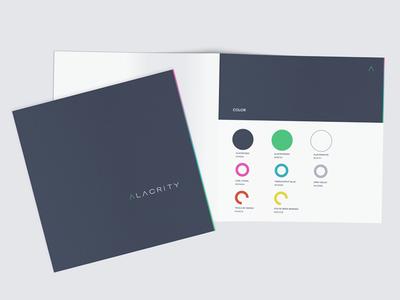 Alacrity Brand Book book palette color brand logo