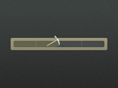 Progress mine rock progress bar icon pick axe