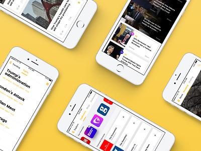 Catalyst politics ios interface catalyst news aggregator ux ui design app