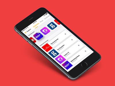 Catalyst catalyst news aggregator ux ui design app