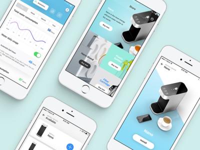 Watercooler App Design ux ui startup ios interface design dashboard app watercooler