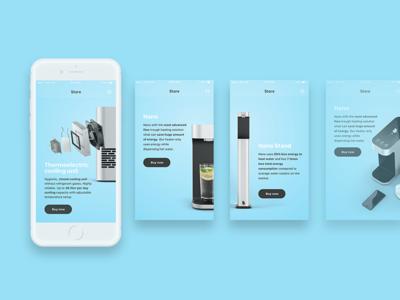 Watercooler App Design iot ios ui ux watercooler store experience interface user design app