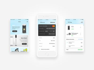 Watercooler App Design (Store) iot ios ui ux watercooler store experience interface user design app