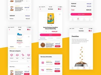Pet Marketplace App marketplace app design user interface experience store ux ui ios pet