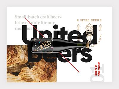 United Beers Design Concept website webdesign branding design development interface layout ui ux web beer brewing