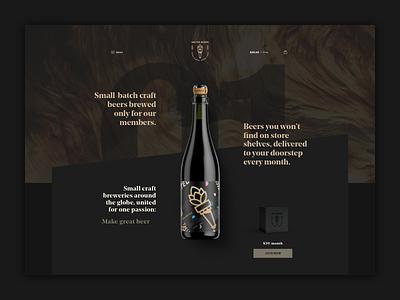 United Beers Website website webdesign web ux ui layout interface development design brewing branding beer