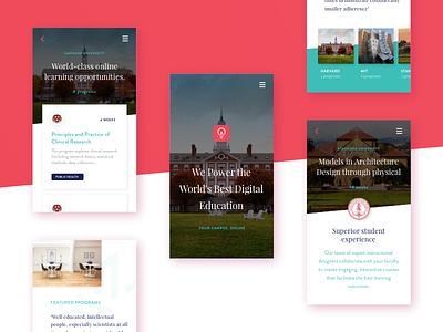 Education Platform App app ux university ui startup school education design college