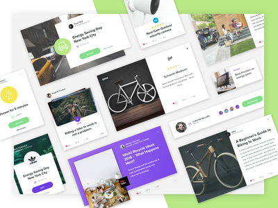 Social Network Cards ux ui startup network social modal layout interface design card