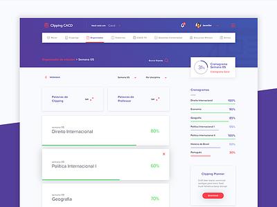 Clipping CACD Platform website webdesign ux user ui learning layout interface education development design dashboard