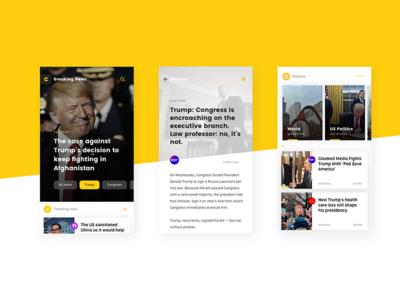 Catalyst App Design ux ui politics aggregator news ios interface design catalyst app