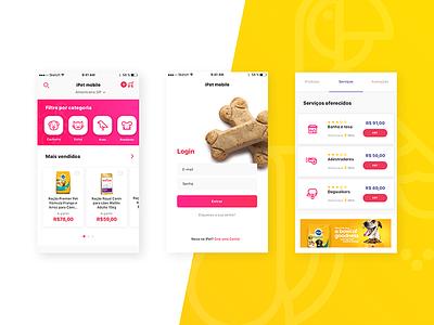 Pet Marketplace App ux user ui store pet marketplace ios interface experience design app