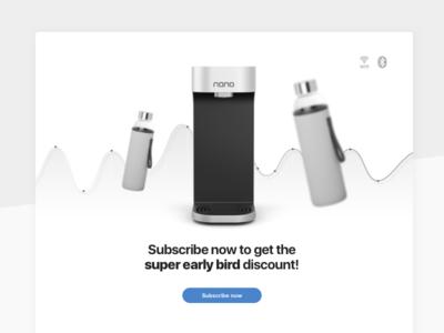 Nano Pre-Order Campaign watercooler ux user ui store iot ios interface experience design app