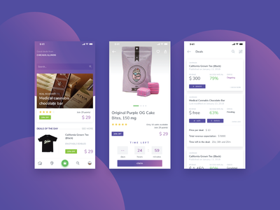 Deals Platform App cannabis ux user ui store deals marketplace interface ios experience design app