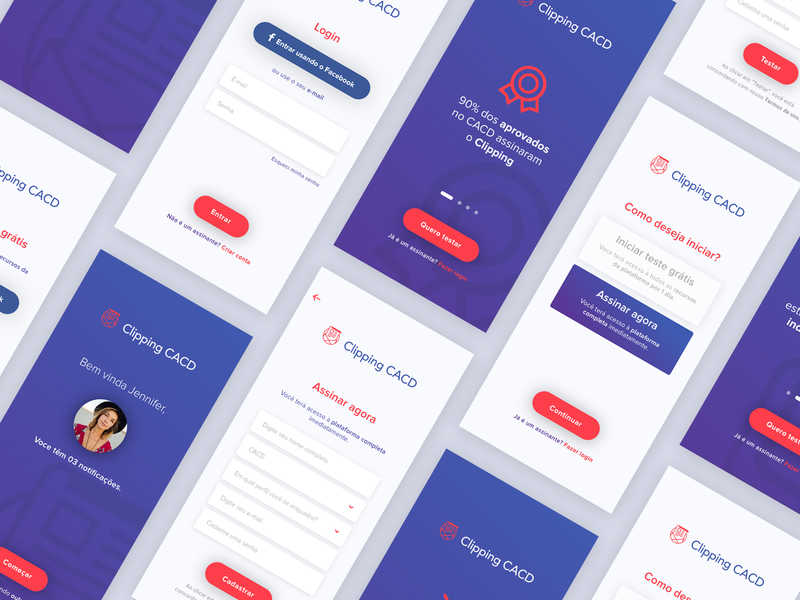Clipping CACD (Sign up / Sign in) ios app user experience user interface ux onboarding sign up sign in design