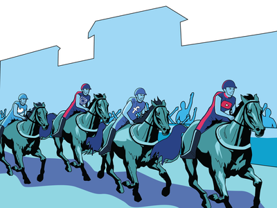 Leading the Pack web design illustration