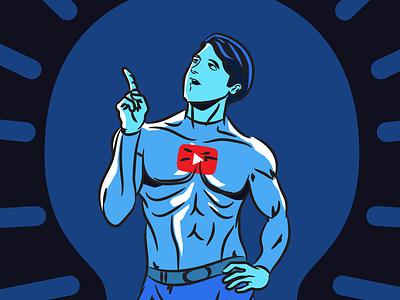 Comic Youtube Powers Leverage copywriting illustration design