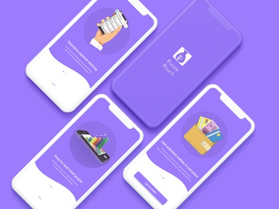 Intro Page - Purple Pouch india uiux expense tracker expense manager design ux ui