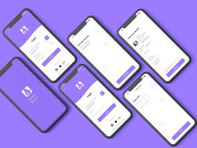 Login and Signup Screens - Purple Pouch otp signup page login page figma design expense tracker expense manager ux ui