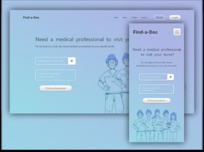 Find-a-Doc uidesign ui web mobile app design mobile app illustration mobile minimal design material creative design branding