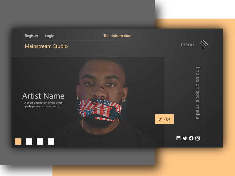 Mainstream studio uiux ux ui design ui illustrator typography modern design modern illustration branding design web minimal material creative design