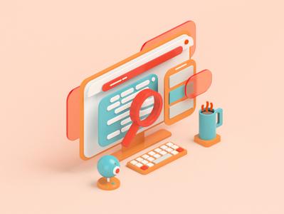 Search illustration maya webdesign 3d