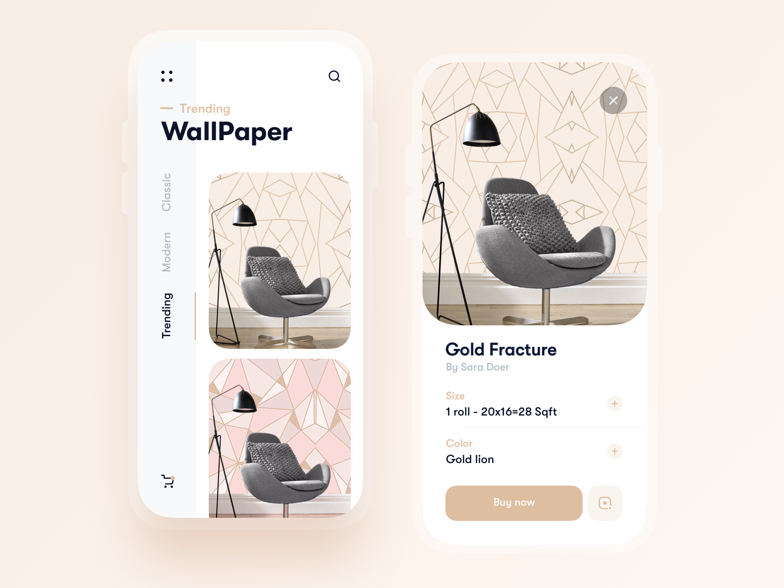 Wallpaper AR app - Home design / murals