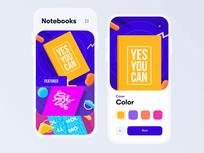 Smart 3D Notebook typogaphy after effects 3d animation motion notebook smart note colorful minimal clean web interface ux design mobile app ui