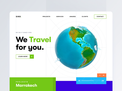Creative Agency - Landing Page invention lab creative trendy colorful ecology branding after effects motion clean landing page web modern design flat minimal green travel agency