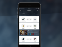 Day 083 - American Football Score Board app UI Design