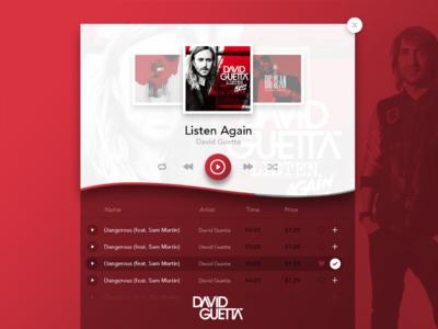 Albums Music Player UI Design