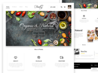 Foodly Organic & Natural - UI/UX Design