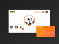 Money Manager Dashboard page - UI/UX Design