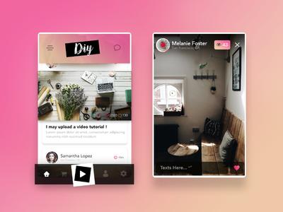 Diy App UI/UX Design - Home Page / Live by Ayoub kada - Dribbble