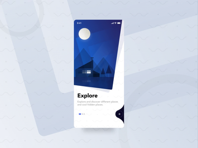 Lucations Animated Onboarding Screens gif animation animated gif clean walkthrough onboarding after effects motion design travel illustration ios ux mobile app ui
