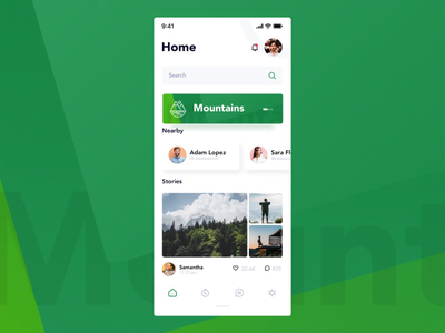 Travel App Animated Feed animation feed animated travel after effects motion design illustration gradient clean interface ux design mobile app ui