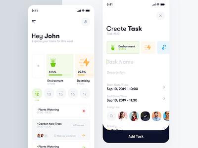 Task Management App clean app design task task management minimal reminder app trendy interface clean ux task manager to do app design mobile app ui