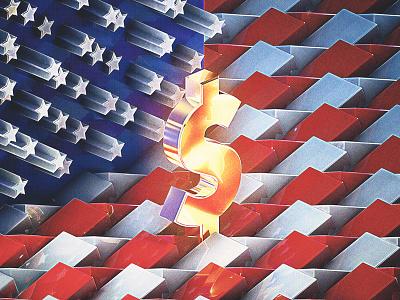USA Dollar photoshop money usa dollar us economy cinema4d