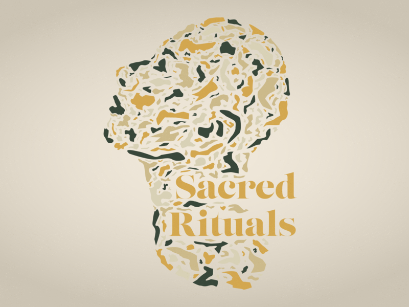 Sacred Rituals illustration church vector design