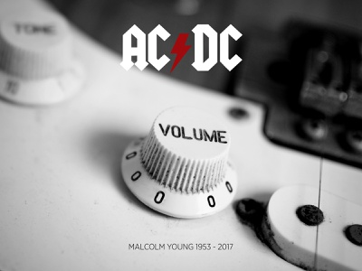RIP Malcolm Young design graphic design malcolm young rock music