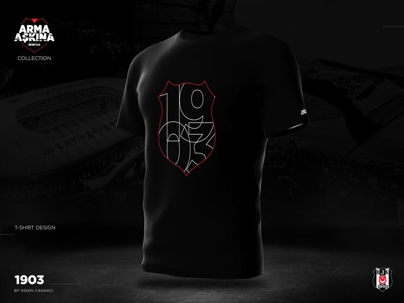 BESIKTAS_1903 T-shirt Design beşiktaş arma aşkına 1903 bjk t-shirt graphic design design
