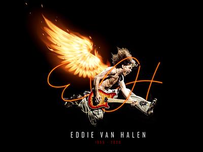 Eddie Van Halen (RIP) guitar eddie van halen graphic design design