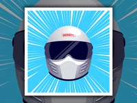 Driver Helmet Print