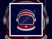 Astronaut Helmet Print