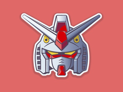 RX-78-2 GUNDAM anime halftones illustrator 2d robot gundam vector illustration