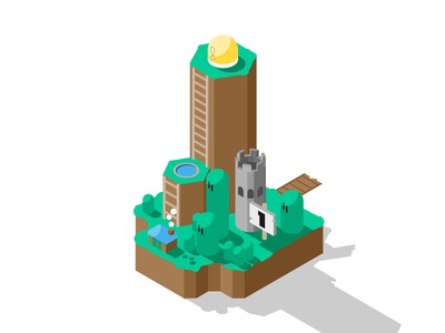 Yoshi's Island vector map isometric mario super mario world illustration