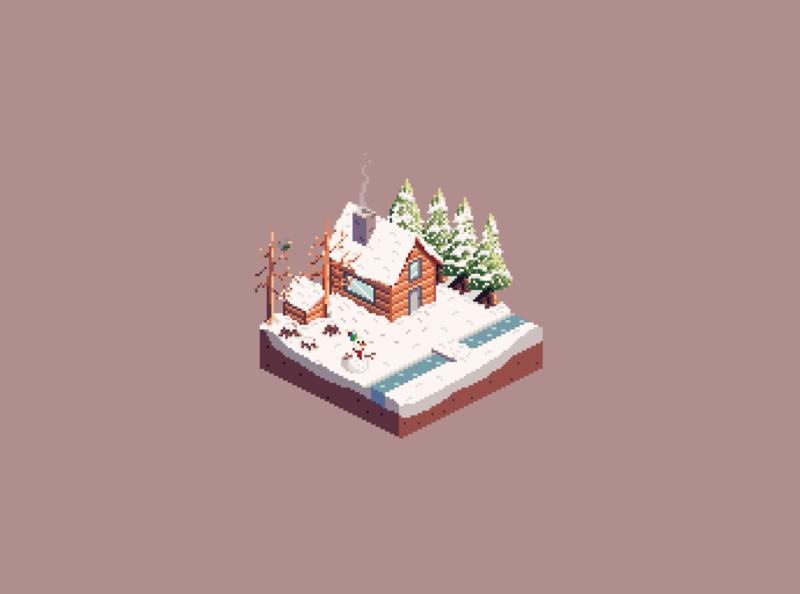 Winter Isometric Scene