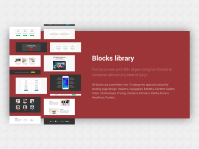A piece of the Forma Template landing page