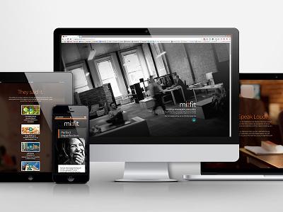Misfit Agency website website responsive rwd advertising agency web design html full screen