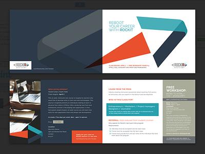 fold over brochure graphic design layout print brochure